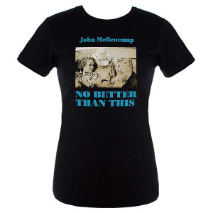 John Mellencamp Womens No Better Than This Album Cover T-Shirt