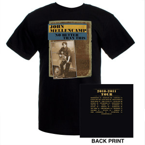 John Mellencamp 2010-2011 Album Tour T-Shirt