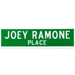 Joey Ramone Place Street Sign