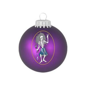 Jerry Garcia Rosebud Glass Ornament