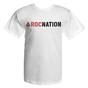 JayZ White Juniors Rocnation T-Shirt