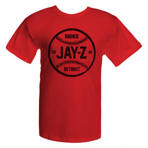 Jay-Z Red Baseball T-Shirt