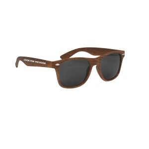 Look For The Good Sunglasses - Wood Grain