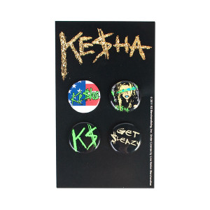 Ke$ha Button 4-pack