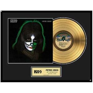 Peter Criss Framed Gold LP