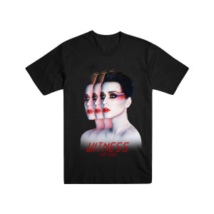 Katy Perry Tour Triptych Black Dateback T-shirt