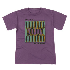 Mike Gordon & Leo Kottke Noon Heavy Tee on Plum Raisin