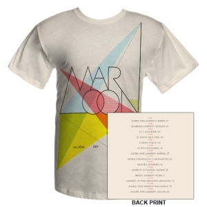 Maroon 5 Official 2009 College Tour Tee