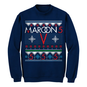 Pre-Order Maroon 5 Snowflake Ugly Christmas Sweater*