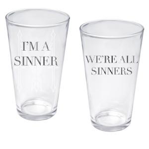Madonna I'm A Sinner Pint Glass