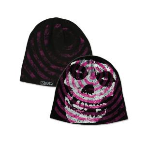 Misfits Purple Spiral Skull Beanie