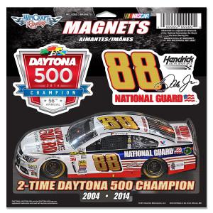 Dale Jr. 2014 Daytona 500 11X11 3pk Magnet