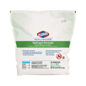 Clorox Hydrogen Peroxide wipes 185 count refill pack