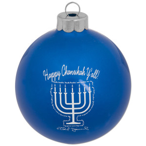 Happy Chanukah Y'all Menorah Ornament