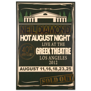 Neil Diamond Hot August Night 40th Anniversary Poster (Limited Edition)