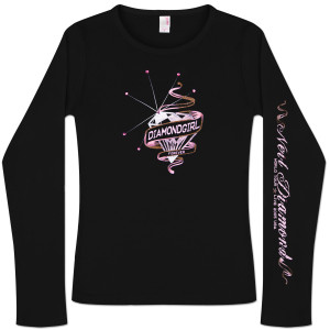 Diamondgirl Forever '05 Black Long Sleeve T-Shirt