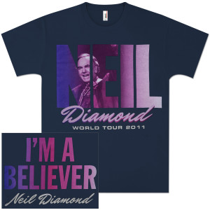 Neil Diamond I'm A Believer World Tour 2011 T-Shirt