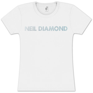 Women's Blue Rhinestone T-Shirt