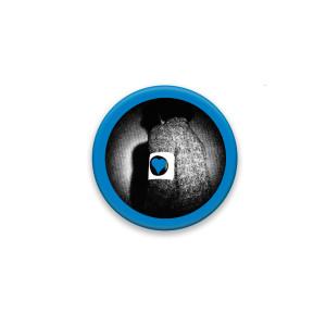 Blue Hearts Button #3
