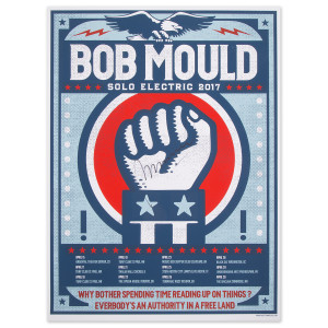 Signed Bob Mould Solo Electric April 2017 Tour