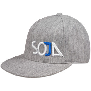 SOJA - Grey Embroidered Flex Fit Hat