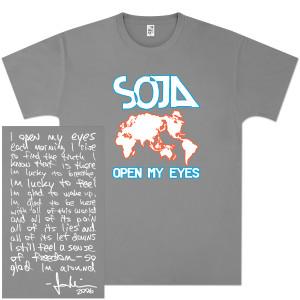 SOJA - Open My Eyes Grey T-Shirt