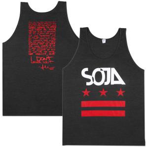 SOJA - Stars & Bars Black & Red Tank