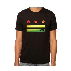 Stars & Stripes Logo Cut Out Black Tee