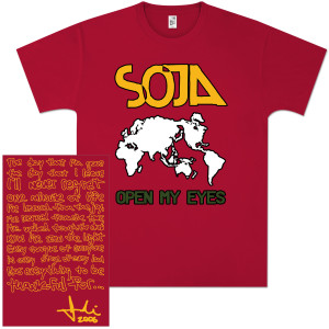 SOJA - Open My Eyes Continents T-Shirt