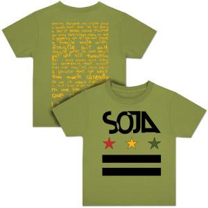 SOJA - Stars & Bars Youth Olive T-Shirt