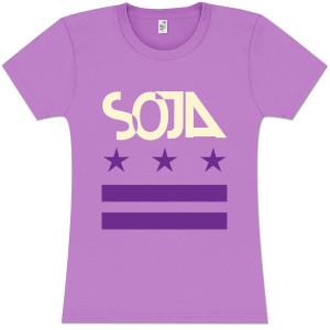 SOJA - Stars & Bars Ladies Lavender T-Shirt
