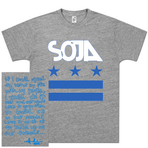 SOJA - Stars & Bars Tri-Grey T-Shirt