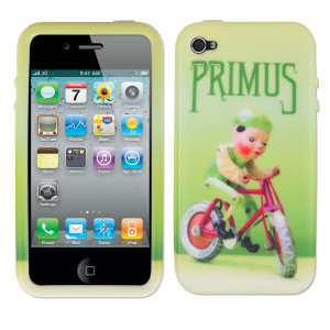 Primus 4G Green Naugahyde Silicone Phone Cover