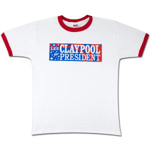 Les Claypool for President Ringer T-Shirt