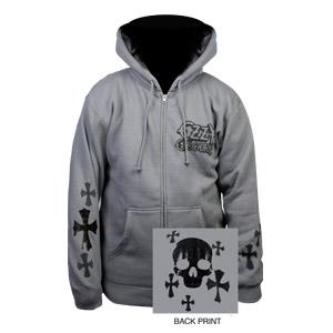 Foil Skull & Cross Ozzy Hoodie