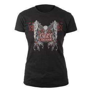 Ozzy Skull & Wings Ladies Tee