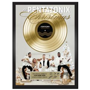 """A Pentatonix Christmas"" Customized Plaque"