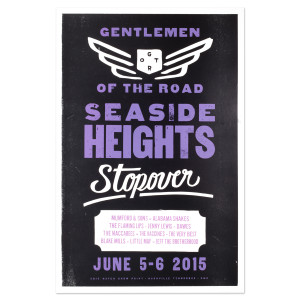 Seaside Heights Hatch Print Poster