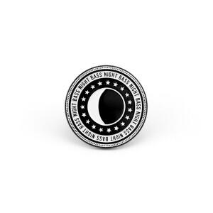 Night Bass Crest Logo Pin
