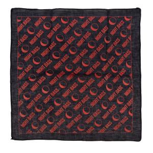 All-Over Print Bandana (Black & Red)
