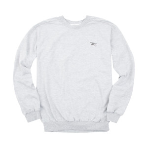 Wet - Grey Embroidered Crewneck Sweatshirt