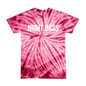 Night Bass Maroon Tie Dye T-Shirt