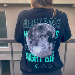 Full Moon Tee (Black & Mint)