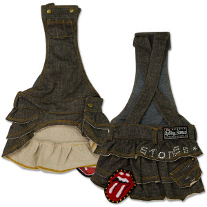 Rolling Stones - Grey Denim Doggie Overalls Skirt