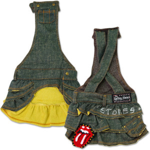 Rolling Stones - Green Denim Doggie Overalls Skirt