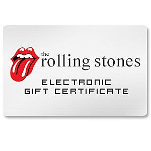 Rolling Stones Electronic Gift Certificate