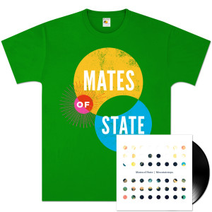 Mates of State Mountaintops LP & T-Shirt Bundle