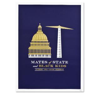 Tour Poster – Washington D.C. 9:30 Club  4/4/09