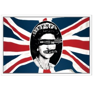 Sex Pistols God Save The Queen Flag Lithograph