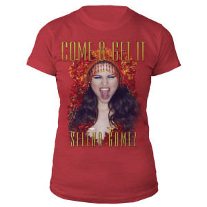 Selena Gomez Come & Get It Cover Art Junior Tee